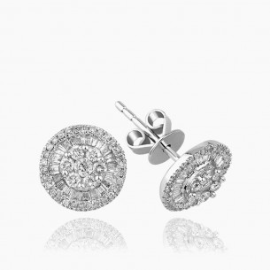 Earring In 18K Gold With 0.40 ct Diamond
