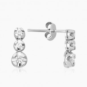 Earring In 18K Gold With 0.25 ct Diamond