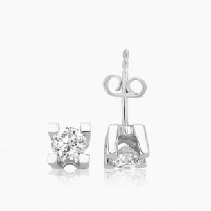 750er Weißgold-Ohrstecker 0.20 ct. Diamant