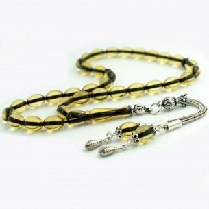 6,6mm x 9,5mm Baltic amber Rosary Tesbih