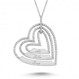 3 Kalpli İsimli Gümüş Kolye