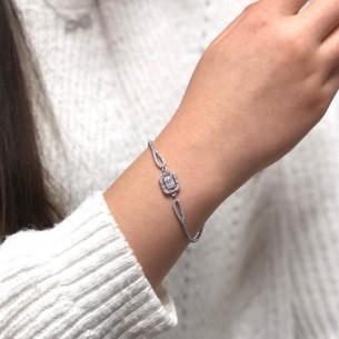Armband aus 925 Sterling Silber mit Baget