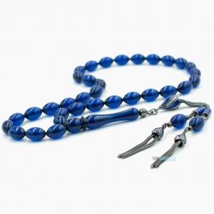 Sıkma Kehribar Tesbih - Bernstein Gebetskette aus 925er Silber