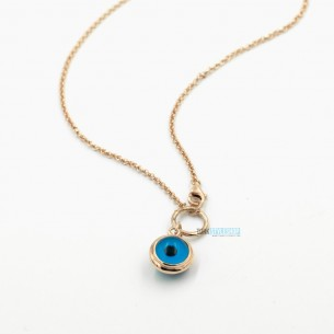 Evil Eye Necklace in Sterling Silver
