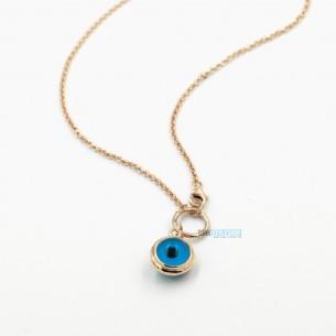 Silberhalskette Blaues Auge