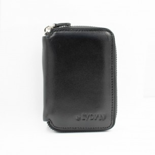 Black Genuine Leather Card Holder