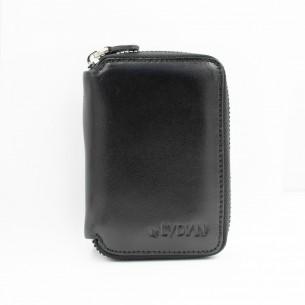 Black Genuine Leather Card...