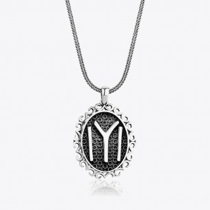 Man Necklace in 925 Sterling Silver