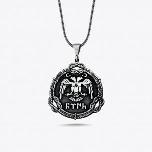 Göktürkçe Türk Yazılı 925 Ayar Gümüş Kolye