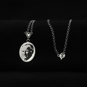 Atatürk Necklace in 925 Sterling Silver