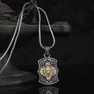 Aslan Figürlü 925 Ayar Gümüş Kolye