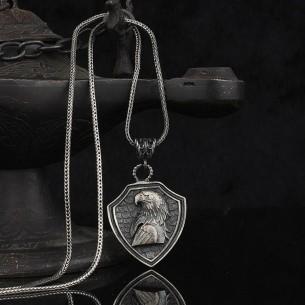 Kartal Başlı 925 Ayar Gümüş Kolye