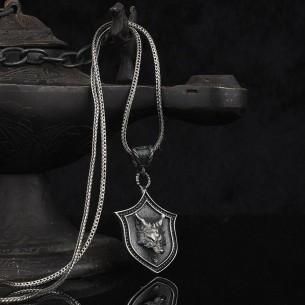 Kurt Başlı 925 Ayar Gümüş Kolye