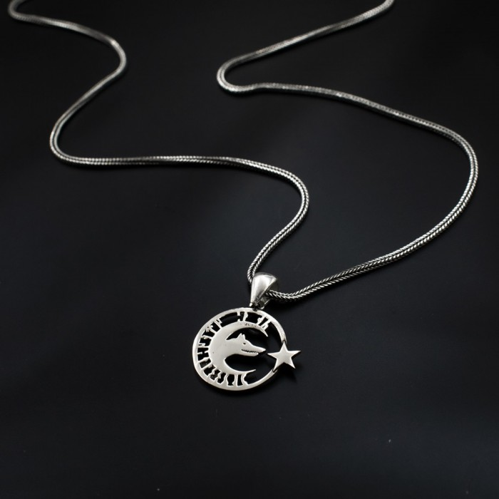 Sterling Silver pendantes AMERICAN Wolf Bead