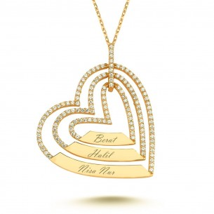 Heart Name Goldplated 925s Silver Necklace