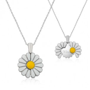Personalised Silver Daisy Name Necklace