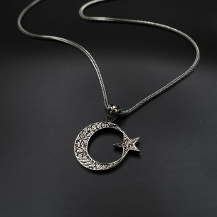 Besmele Moon Star Necklace...