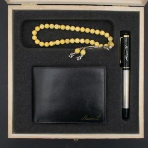 Amber Tasbih Leather Wallet...