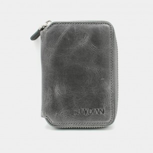 Antic Grey Genuine Leather Card Holder