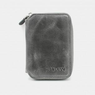 Antic Grey Leder Kartenetui