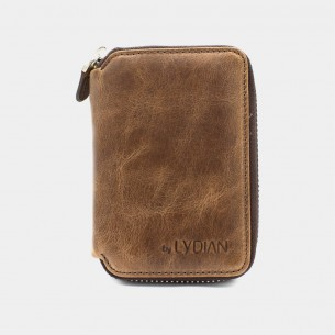 Brown Genuine Leather Card...