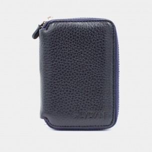 Navy Blue Genuine Leather Card Holder