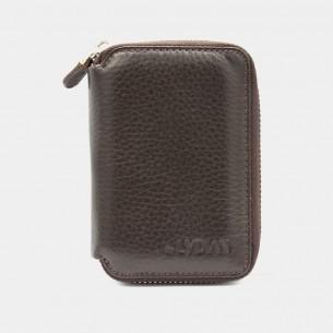 Fermuarlı Kahverengi Mini Cüzdan