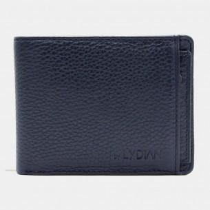 Genuine Leather Wallet Antic Dark Blue