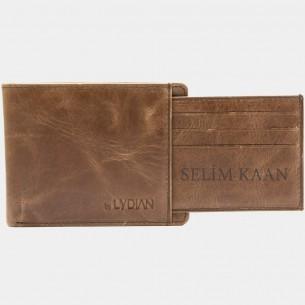 Genuine Leather Wallet Brown