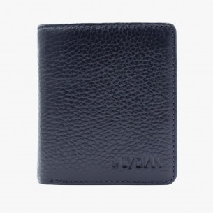 Navy Blue Genuine Leather Wallet