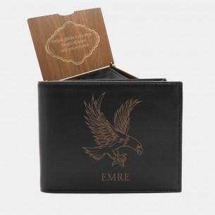 Persönliche  Adler Portemonnaie mit Gravur aus Leder