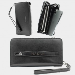 Leather Hand Wallet with...