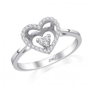 0.14 Ct. Heart Diamond...