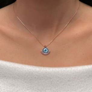 Evil Eye Necklace in...