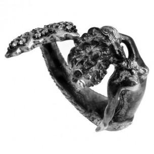Mermaid Ring in Sterling Silver