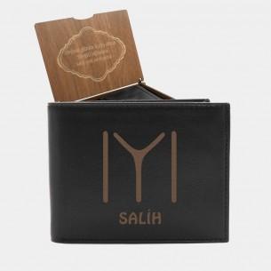 Kayı Boyu Persönliche Portemonnaie mit Gravur aus Leder
