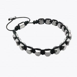Men's Bracelet with Hematite Stone
