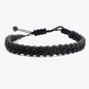 Lava Stone Men's Bracelet