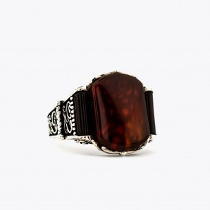Agate Stone 925 Sterling...