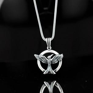 925er Sterling Silber Herren Halskette mit Anka Motiv