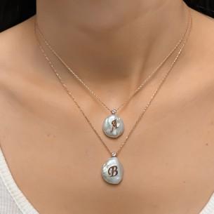 Echte Perle Briefkette