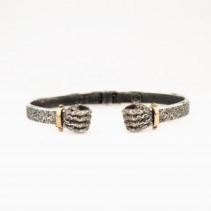 925 Sterling Silver Men Bracelet with Fist Motif