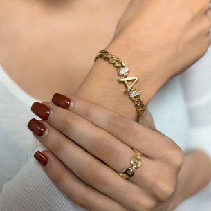 Initial 925 Sterling Silver Bracelet