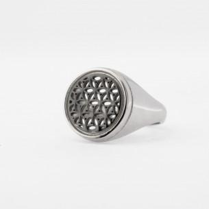 Blume des Lebens Silber Frauen Ring