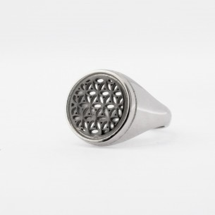 Flower of Life Silver Women Ring