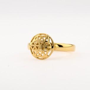 Blume des Lebens und 925 Sterling Silber Ring