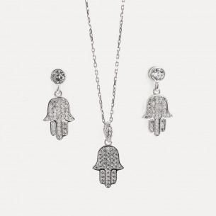 Fatimas Halskette und Ohrringe Set
