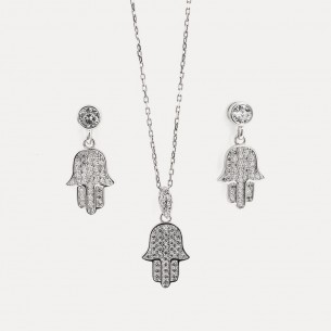 Fatimas Necklace and Earrings Set