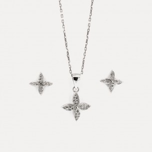 Stone Clover Necklace and...