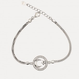 Moon Star 925 Sterling Silber Armband